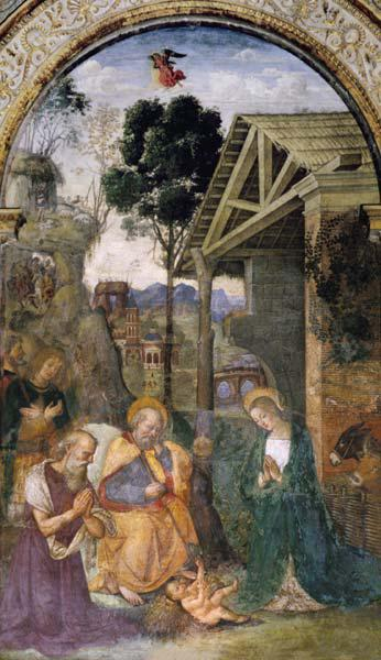 Pinturicchio / Adoration of the child