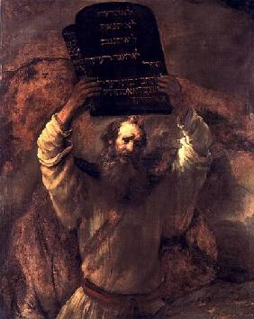 Moses Smashing the Tablets of the Law 1659