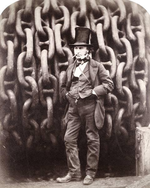 Isambard Kingdom Brunel, standing in front of the launching chains of the ''Great Eastern'', 1857 (b