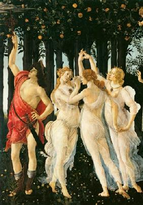 Primavera: Detail of the Three Graces and Mercury