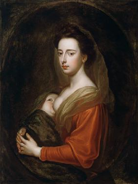 Portrait of Lady Mary Boyle (1566-1673) and Her Son Charles Boyle (d.1720) 17. Jh