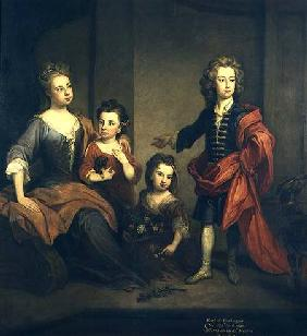 Richard Boyle, 3rd Earl of Burlington, as a boy, with his sisters Elizabeth, Juliana and Jane c.1700