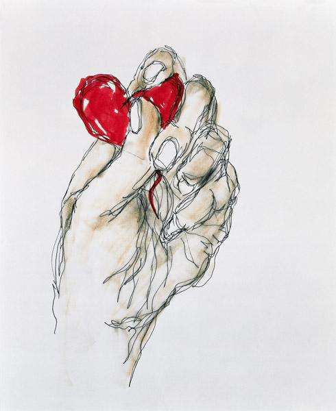 ''You Gave Me Your Heart'', 1996 (ink on paper)