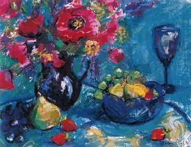 Still Life with Blue Glass 1999