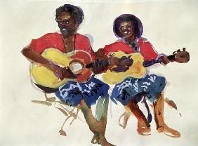Fijian Guitar Duo 1985