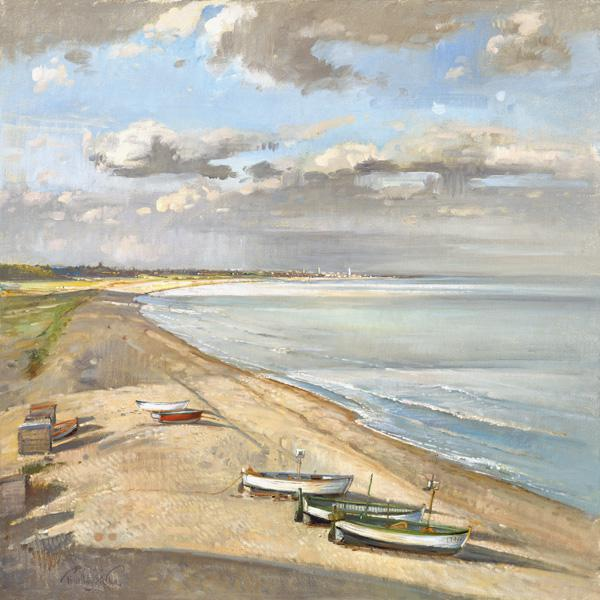 Towards Southwold (oil on canvas)
