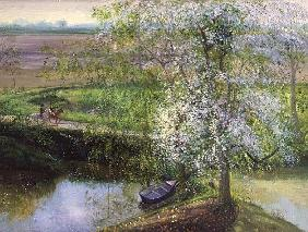 Flowering Apple Tree and Willow, 1991
