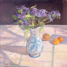 French Jug with Anemones (oil on canvas)