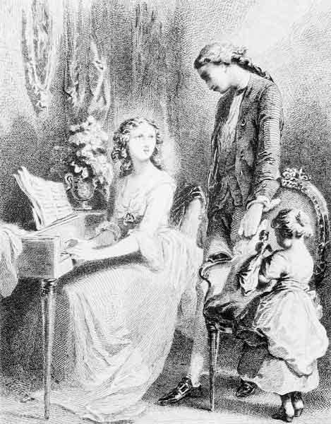 Illustration from ''The Sorrows of Werther'' Johann Wolfgang Goethe (1749-1832)