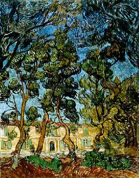 Trees in the Garden of St. Paul's Hospital 1889