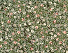 Small pink and white flower wallpaper design