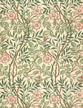 'Sweet Briar' design for wallpaper, printed by John Henry Dearle (1860-1932) 1917 1816