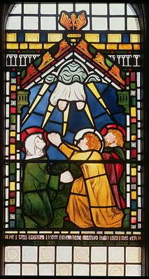 The Ascension, 1861 (stained glass) 1890