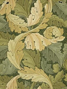 Wallpaper Design with Acanthus/Woodland colours, 1875 18th